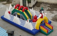 inflatable playground, inflatable fun city, mini fun city, inflatable park,