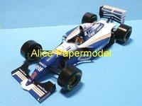 [Alice papermodel]Formula 1 F1 car  models 1994 Williams FW16 racing car sedan models