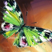 Free Shipping !!! Drop Ship Gallery Quality ,  Wall Art Butterfly Oil  Painting On Canvas JYJB013