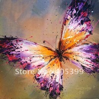 Free Shipping !!! Drop Ship Gallery Quality ,  Wall Art Butterfly Oil  Painting On Canvas JYJB015