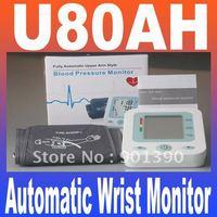 U80AH LCD Digital Display Fully Automatic Wrist Monitor BPM Measuring Blood Pressure Cuff Pulse measurement Free shipping