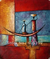 Free Shipping !! African Art ,100% Hand Painted Modern Oil Painting on Canvas  ytrw019