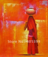 Free Shipping !! African Art ,100% Hand Painted Modern Oil Painting on Canvas  ytrw024