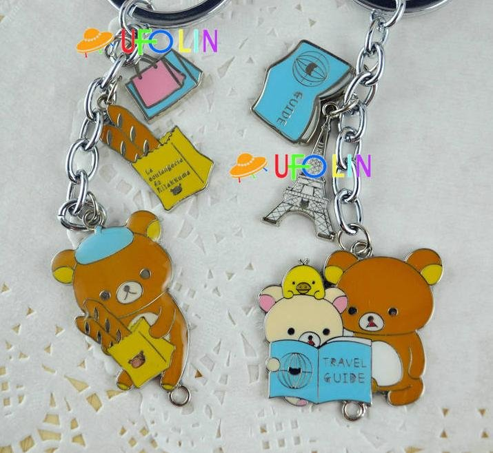 Free Shipping/New Rilakkuma and kitty mobile phone charm/ mobile phone Pendant / with dust plug