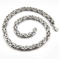 2012 new  arrival 54cm long,8mm wide 316L stainless steel chain necklaces for men,fashion jewelry link Free shipping Wholesale
