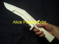[Alice papermodel] 1:1 halo Tactical Knife covenant laser Battle Rifle Pistol autorifle reach canon covenant spaceship models