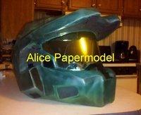 [Alice papermodel] halo Spartan  Mark VI helmet Gas Bio masks could wear on head Pistol autorifle reach covenant models