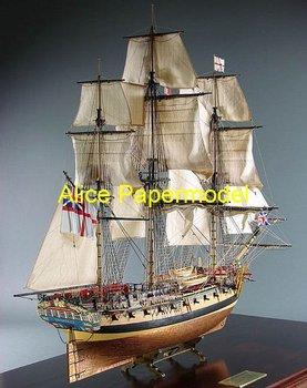 [Alice papermodel]18th century  Empire navy HMS Enterprize Galleon Sailing sailboat warships yacht models