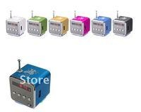 5PCS/LOT TD-V26 Digital portable Speaker Mini Speaker MP3 Player USB Disk Micro SD TF Card FM Radio for mp4 PC phone sound box