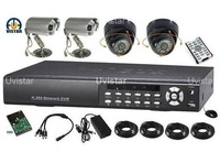 4CH H.264 security camera system with 500GB HDD SONY CCD camera dvr kit