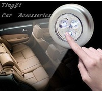 Free shipping!Hot sale!Car Touch Lamp/3pcs High Power LED/100000 Hours Life/adhesive tape/ABS material/High cost performance