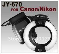 JY-670 Macro Ring LED Light Flash Speedlite For Canon Nikon Olympus Pentax Samsung