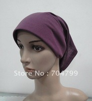 H412 latest design plain tube underscarf with stiff on front,free shipping,fast delivery,assorted colors