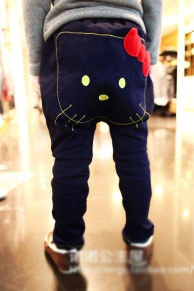 Girls jeans kitty Jeans Lovely pants kids jeans girls pants 5pcs/lot Free shipping Wholesale