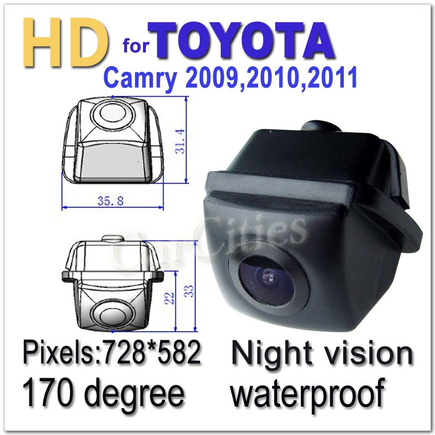 CCD rearview camera170 degree for Hyundai I30/Genesis coupe/Kia Soul Waterproof shockproof Night version Size:100*37.7*48.6mm