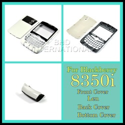 Top Quality Housing Faceplate Cover For BlackBerry 8530 8350i NEXTEL carcasa-white mobile phone cover(China (Mainland))
