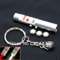 2in1 Super White LED Light + Red Laser Pointer w Keyring & battery