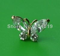 3.5mm Earphone Dust Ear Cap Plug Dust Cover Rhinestone Butterfly B-2