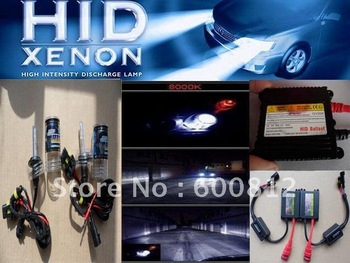 FREE SHIPPING Auto XENON HID Conversion Kit  12v DC 35W  H7 8000K car HID xenon kit xenon Bulbs lamp bulb Slim ballast  H7-8K IC