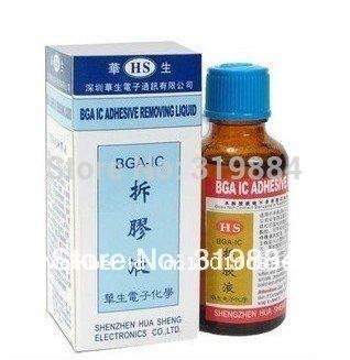 Free shipping BGA IC Epoxy Glue Remover CellPhone chip clean BGA IC adhesive removing liquid(China (Mainland))