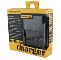 SYSMAX NiteCore I4 charger multi-function intelligent charger Fit charge CR123A.16340.18650.18500.14500.26650.AA.AAA,Battery