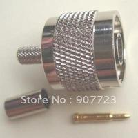 10pcs N male plug crimp RG58 RG142 RG400 LMR195 RG223 connector