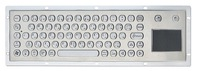 IP65 industrial metal keyboard with touchpad(X-PP702B-S)