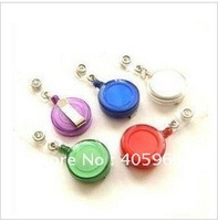 Free shipping+15pcs/lot ID holder name card key Badge Reels  Retractable Reel