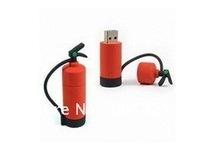 Free shipping,4GB/8GB/16GB Fire Extinguisher Shape USB 2.0 Flash Drive,Silicon/PVC USB Pen Disk,USB Memory Drive,10pcs/lot
