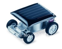 Free Shipping Mini solar car, World's smallest solar car, Solar toys, Novelty toys Hongkong post 10pcs/lot