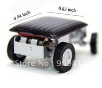 Free Shipping Mini solar car, World's smallest solar car, Solar toys, Novelty toys 100pcs/lot