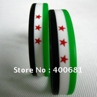 Free syria flag wristbands