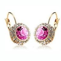 New styles Full Rhinestone  Earrings Crystal Stud Earrings
