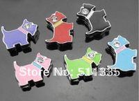 Wholesale 100pcs 8mm mix color dog slide charm