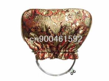 Free shipping! Wholesale 20 pcs Brocade Metal Handle Bags Snap Closure Tote Evening Purse handbag
