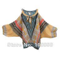 2012 New Women Chiffon bat sleeve strapless , European style , chiffon shirts ,T-shirt