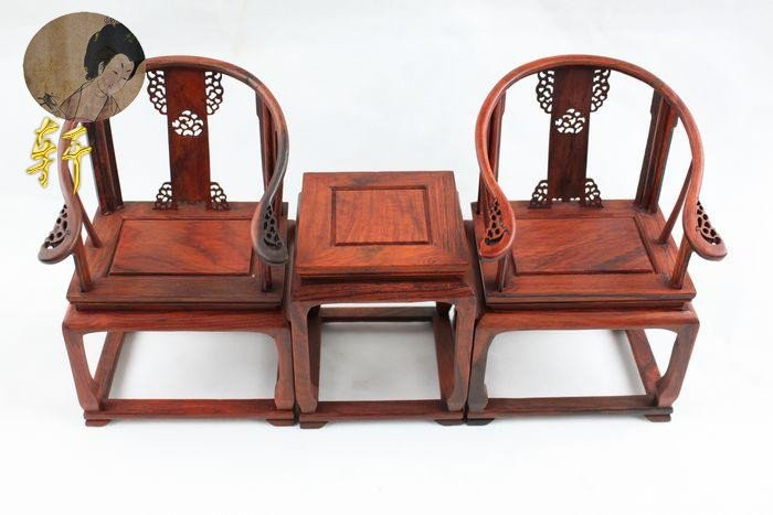 unique gift Rare chinese old antique mini Ming and Qing furniture / Wood handicrafts products stenciling armchair zyx0510(China (Mainland))