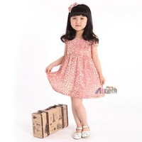 Free shipping!!Factory Direct! HOT SELLING! TOP QUALITY! Children's clothing fashion baby girls short-sleeved lace dress  A017
