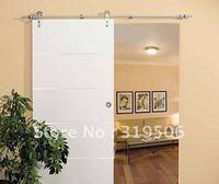 Modern 304 stainless steel barn door hardware for wood door free shipping
