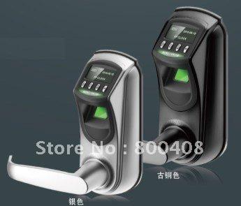 ZK Biometric Fingerprint Lock for Door single tongue locks Easy to installation Fashion Design,Battery type(China (Mainland))
