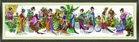 Textile & Fabric Crafts order Free cross stitch cross stitch pattern China dream of Red Mansions twelve beauties (two)