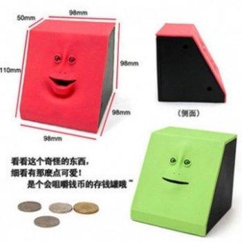 Free shipping Face Bank Mouth Sensors Coin Bank Creative Toy ,money bank,saving  box Ll-01-085