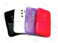 200pcs/Lot S Line TPU GEL Case Cover for HTC EVO 3D