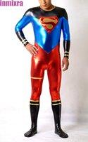 Shiny Metallic Superman Halloween Zentai Costume