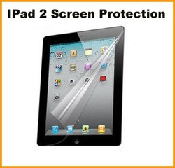 Screen Protector Tansparent Anti-Scratch/Reflective/Stains/fingerprints/dust, Self-adhesive,Reusable for Ipad2(China (Mainland))