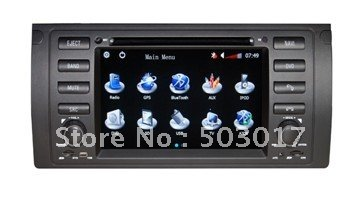 M5 E39 E53 Car GPS Navigation DVD Head Unit with Sat Nav Radio TV Bluetooth System(Hong Kong)