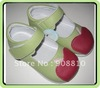 Green apple shoes girls mary jane  baby leather shoes new arrival