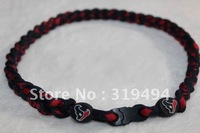 Health germanium titanium silicone necklace NCAA necklace Silicone braided rope necklace-- Houston Texans