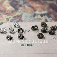 3000pcs earring plugs,earring finding,antique bronze Copper/brass earplugs accessories Free shipping