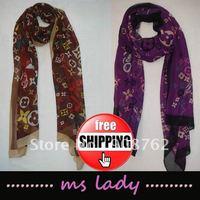new fashion scarf popular scarf chiffon neck scarf chiffon free shipping HK airmail